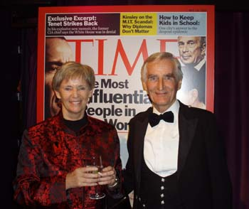 Dr. Judith L. Mackay and her husband, Dr. John Mackay attend the awards ceremony on May 8, 2007.
