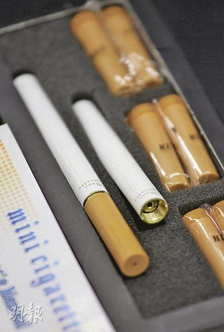 Selling electronic cigarette is illegal in Hong Kong. (Source: Ming Pao)