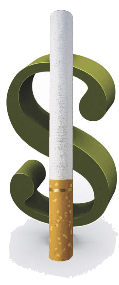 Cigarette tax is very effective on redusing smokers number.
