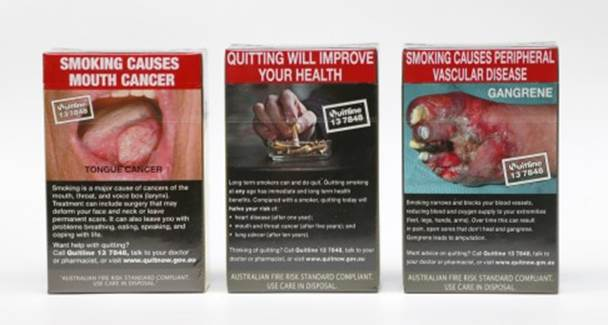 Australia introduced standardised plain packaging for cigarettes in 2012