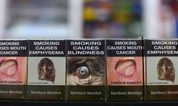 Marlboro Menthol cigarettes in new packaging in Australia. Photograph: Bloomberg/Bloomberg via Getty Images