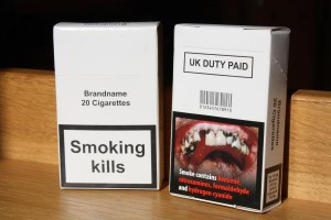 An example of the plain packaging that will be used