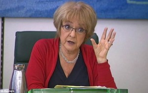 Sick: Public Accounts Committee chairman Margaret Hodge condemned the move by Mr Hartnett to join Deloitte