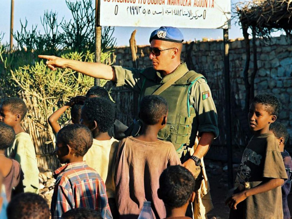 Paul Hopkins working as an Irish Army Ranger in Somalia in 1993 John Daly