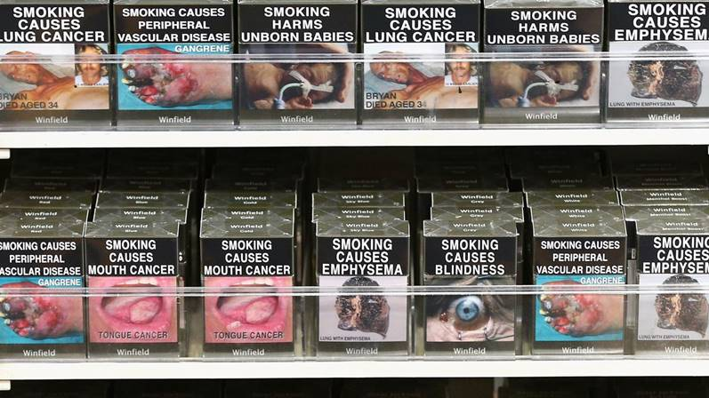 Australian cigarette packages have graphic health warnings. Cameron Spencer/Getty Images