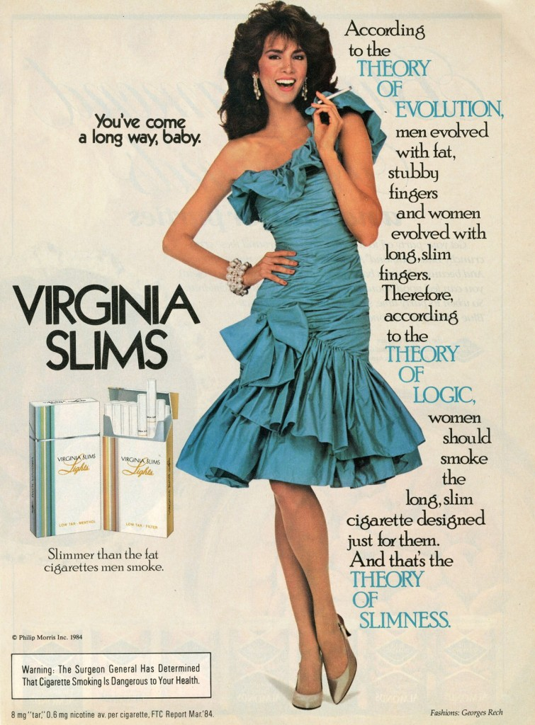 Advertisers really bucked the weight-loss trend in the 1970s. This was perhaps one of the few medical claims that had an element of truth to it.