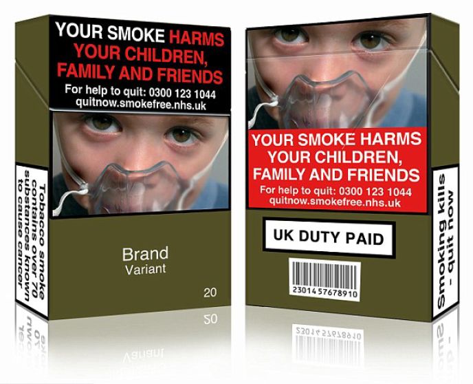 New cigarette packaging laws are coming into force today, which means all boxes will have to be the same olive green colour, with the same font, colour, size, case and text appearance. Dr Nick Hopkinson, spokesperson for the British Lung Foundation, says evidence shows plain packaging works to cut smoking