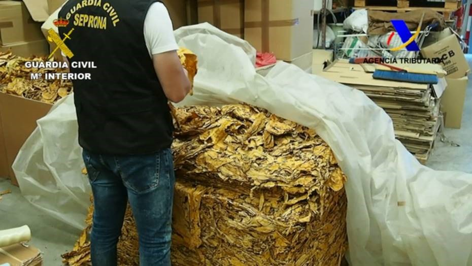Just some of the tobacco seized Guardia Civil