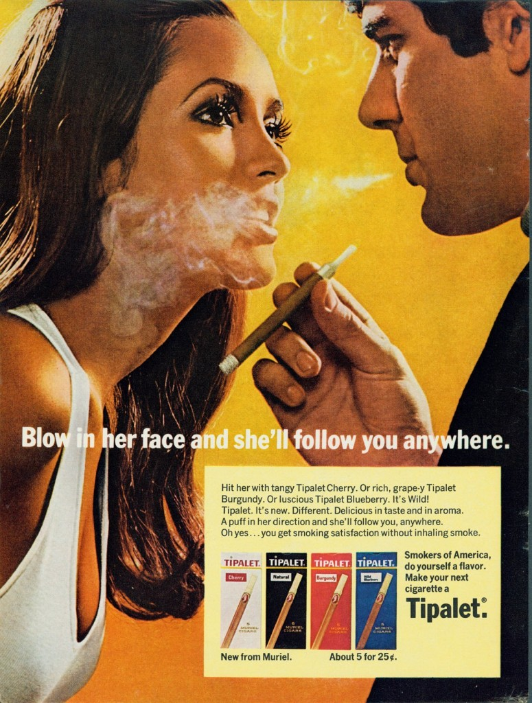 This one claimed passive smoking was a way of getting women to follow you.