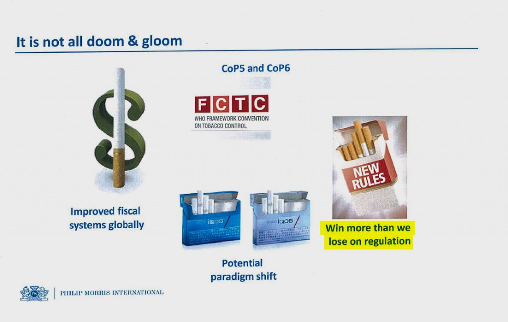 "Another slide from the 2014 PowerPoint presentation. ""Paradigm shift"" refers to an expected boom in what the company calls ""reduced-risk products."""