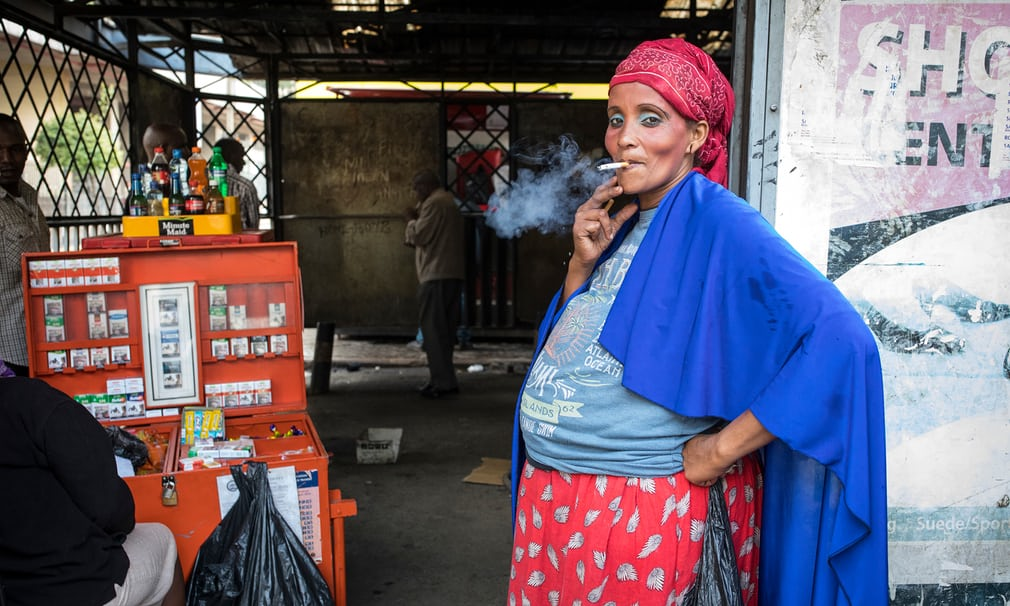 Approximately 176 million adult women worldwide are daily smokers and 37 women die every week in Kenya due to tobacco related complications. Photograph: David Levene for the Guardian