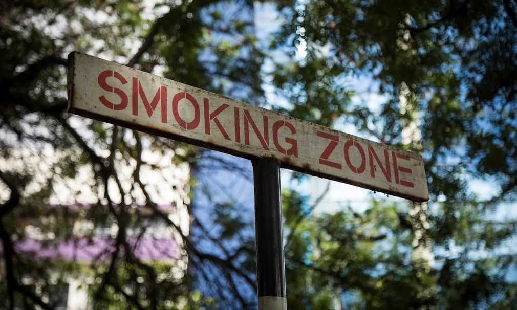 A Nairobi smoking zone Photograph: David Levene for the Guardian