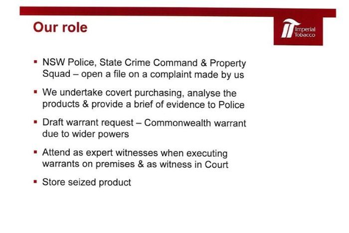 PHOTO: Imperial Tobacco analysed the product for police. (ABC News)